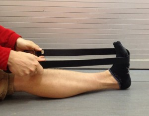 Longsitting Calf Stretch