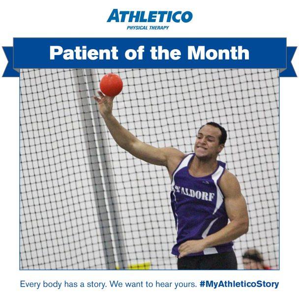 Athletico Patient of the Month Demetrius Baker