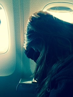 how to stretch your neck on a plane