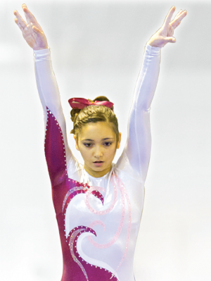 gymnast performance arms in air