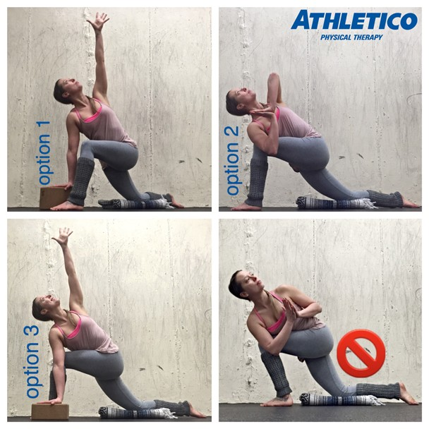 lunge twist options for stretch of the week