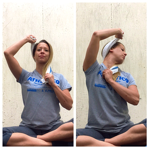 Towel Exercise Shoulder: Stretch Of The Week: Assisted Neck Twist