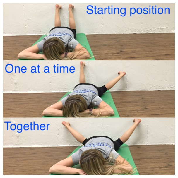 prone double internal rotation stretch