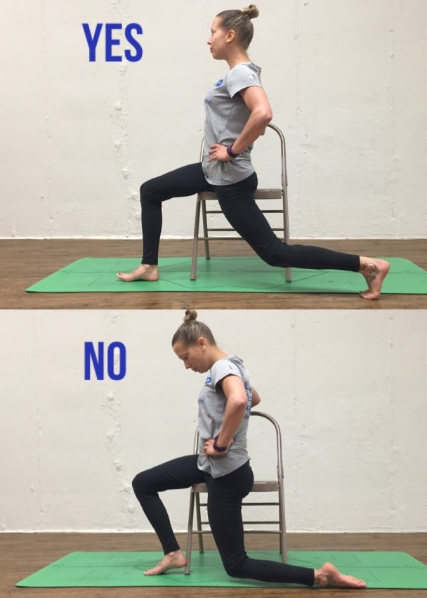 chair lunge stretch