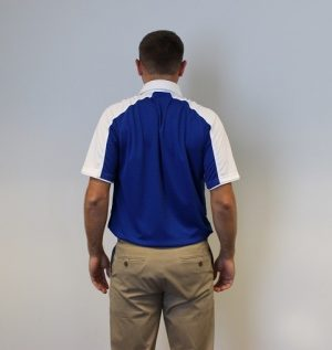 text neck stretch shoulder blade squeeze