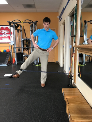 golf off season training standing hip abduction