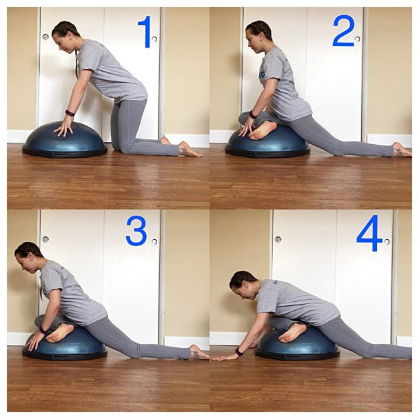 Stretch of the Week: Pigeon Stretch with Bosu® Ball