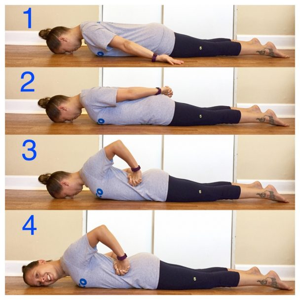 stretch of the week prone neck stretch