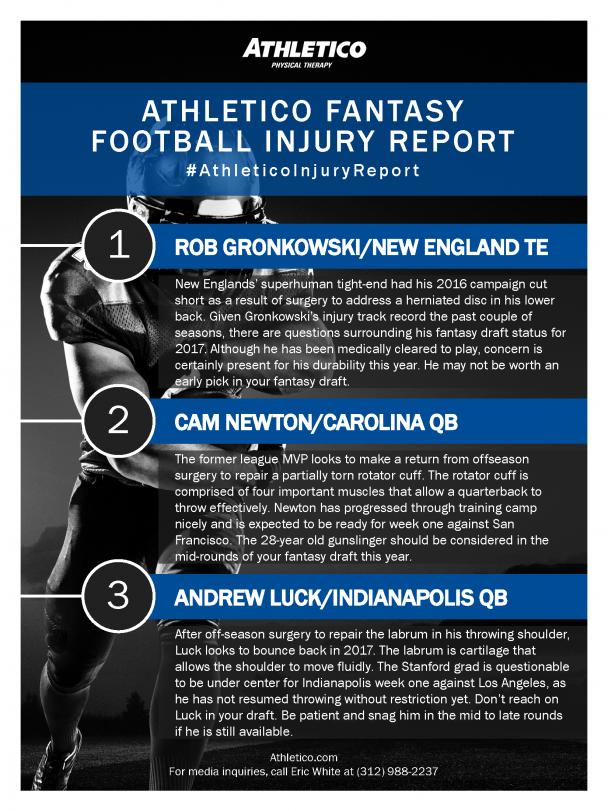 fantasy football injury updates 2017 nfl draft