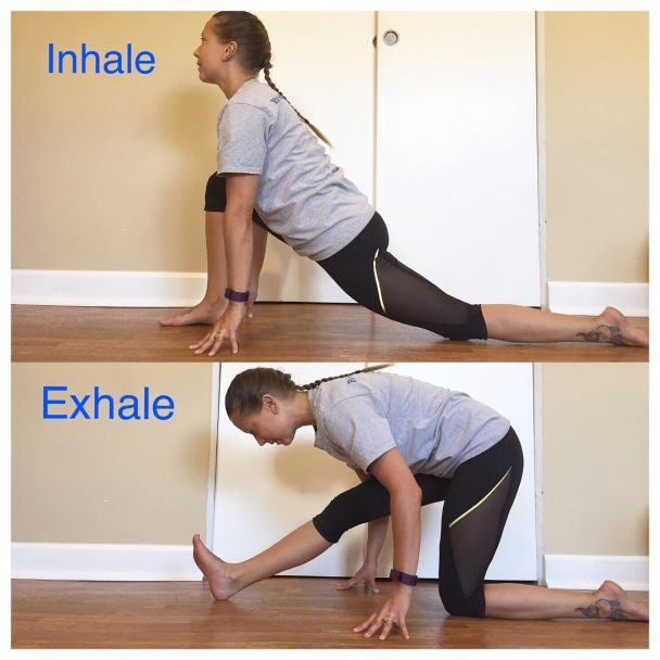 stretch of the week lunge to half splits