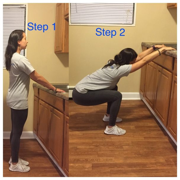 stretch of the week squat with kitchen sink