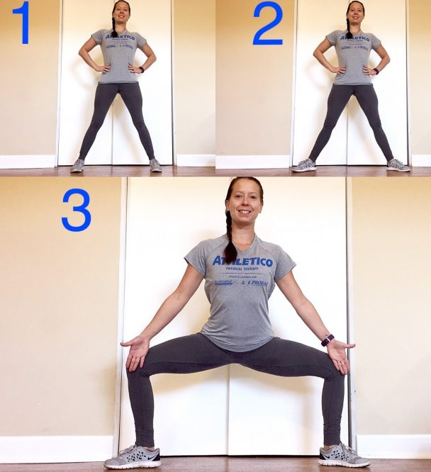 stretch of the week sumo squat stretch