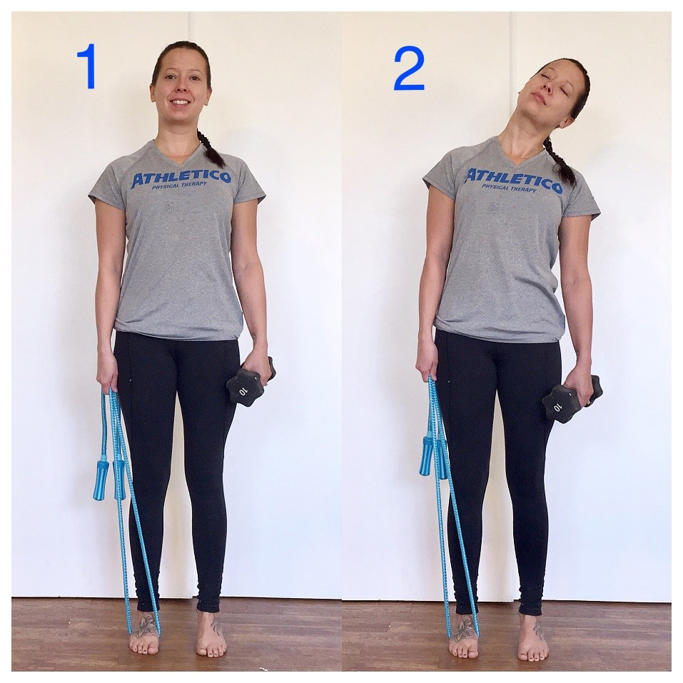 Stretch Of The Week Self Trapezius Traction Stretch Athletico