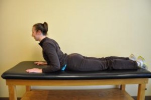 Lumbar extension stretch