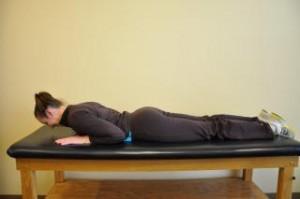 Lumbar extension stretch