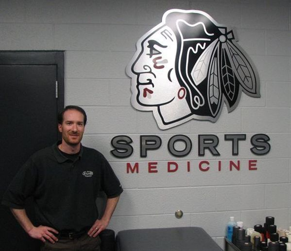 AthletiCo's Patrick Becker provides rehabilitation services for the Chicago Blackhawks.