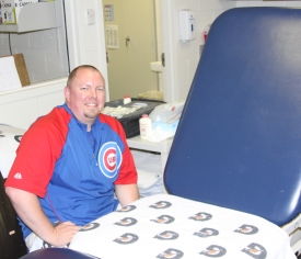 AthletiCo Tinley Park's Jason Hall is in his second season as the Cubs athletic training intern.