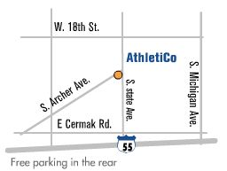 Map of Athletico South Loop