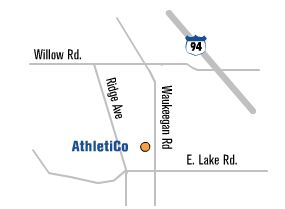 Map of Athletico Glenview