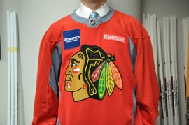 AthletiCo's partnership with the Blackhawks now includes sponsorship of the team's practice jerseys.