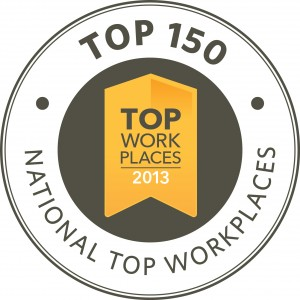 Athletico Physical Therapy was named one of America's Top Workplaces for 2012, ranking #79 nationwide among 872 organizations with more than 1,000 employees that participated in regional top workplaces programs
