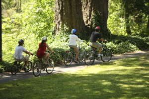 bicycling is a great way to get exercise with the family
