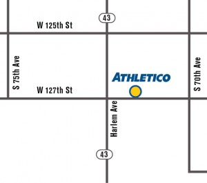 Athletico Palos Heights Map