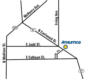 Map of Athletico Physical therapy office in Woodstock IL
