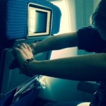 back stretches on a plane