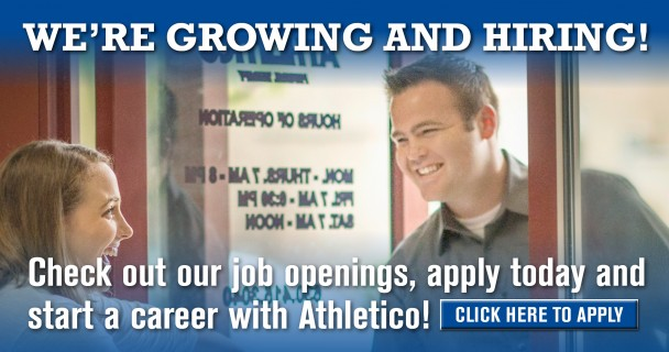 We're Growing and Hiring! Check out our job openings, apply today and start a career with Athletico