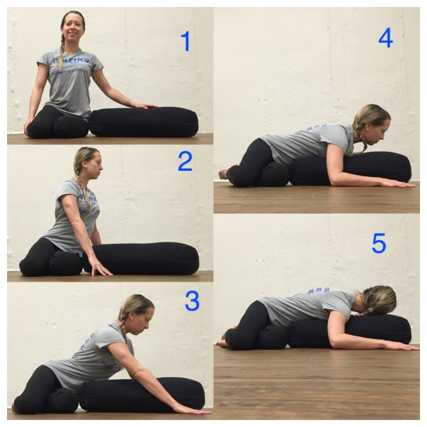supported prone twist stretch