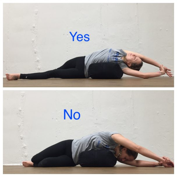 stretch of the week: supported side lying stretch
