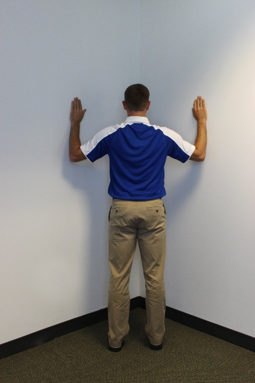 backpack safety corner chest stretch