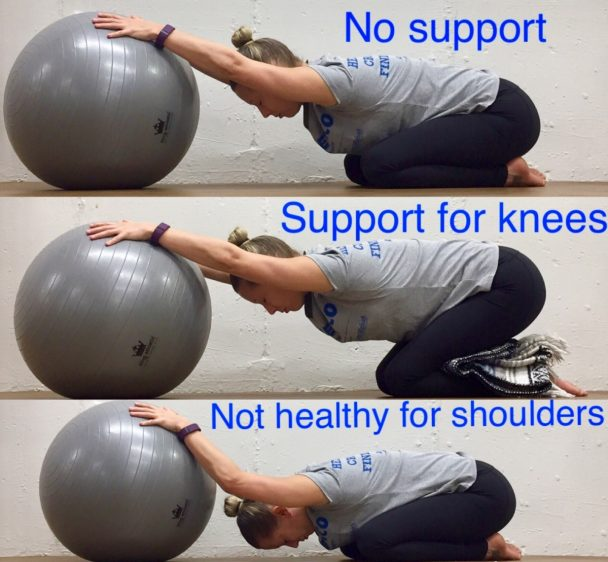 Stretch of the Week: Child's Pose with Pilate Ball
