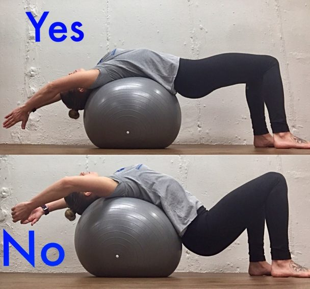 Stretch of the Week: Supported Backbend over Pilates Ball
