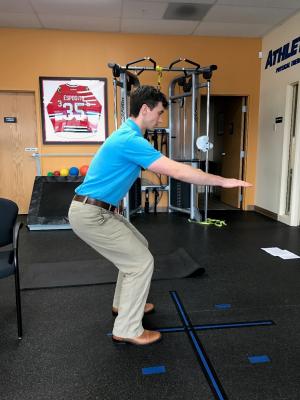 golf off season training static front squat