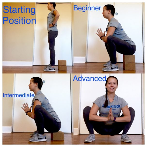 deep squat stretch