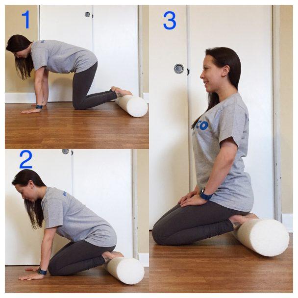 stretch of the week kneeling shin stretch