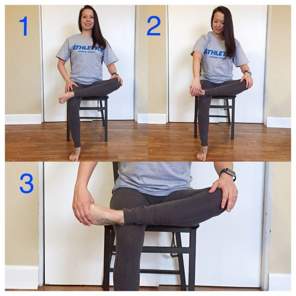 stretch of the week seated shin stretch