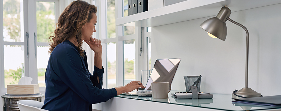 back pain when working from home