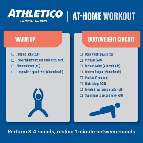 Stay At Home: Lower, Upper Body and Core Challenge